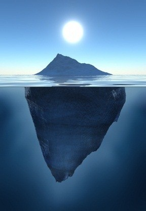Remember the iceberg!
