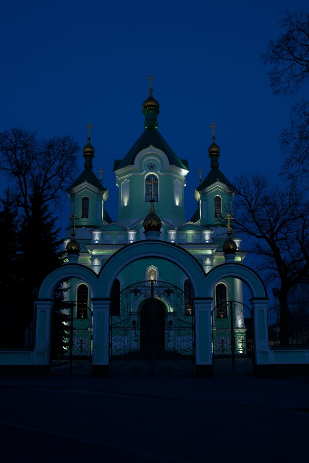 St Simeon cathedral in Brest at night