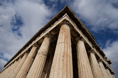 Colonnade and roof of Temple of Hephaistos