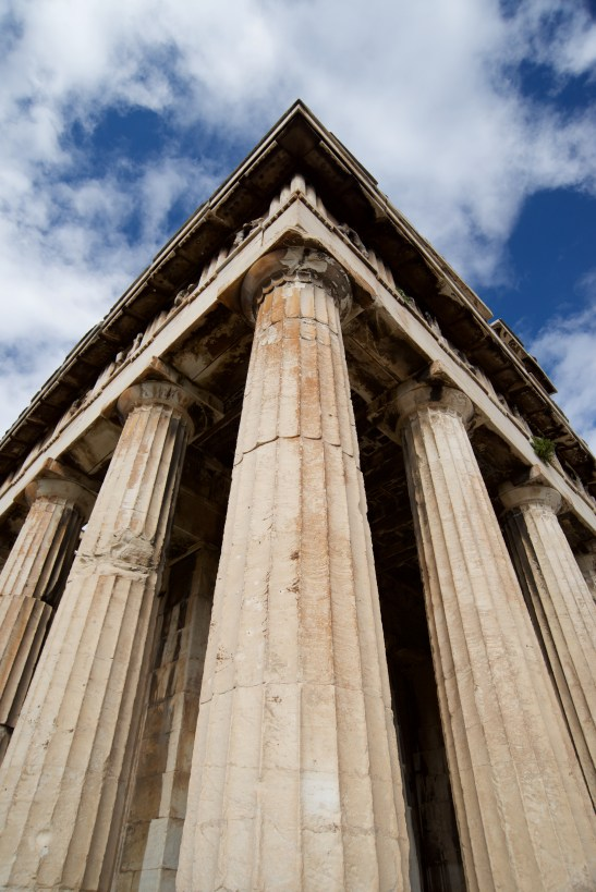 Corner of marble Temple of Hephaistos colonnade
