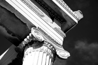 Mono Ionic capital at corner of Erechtheion
