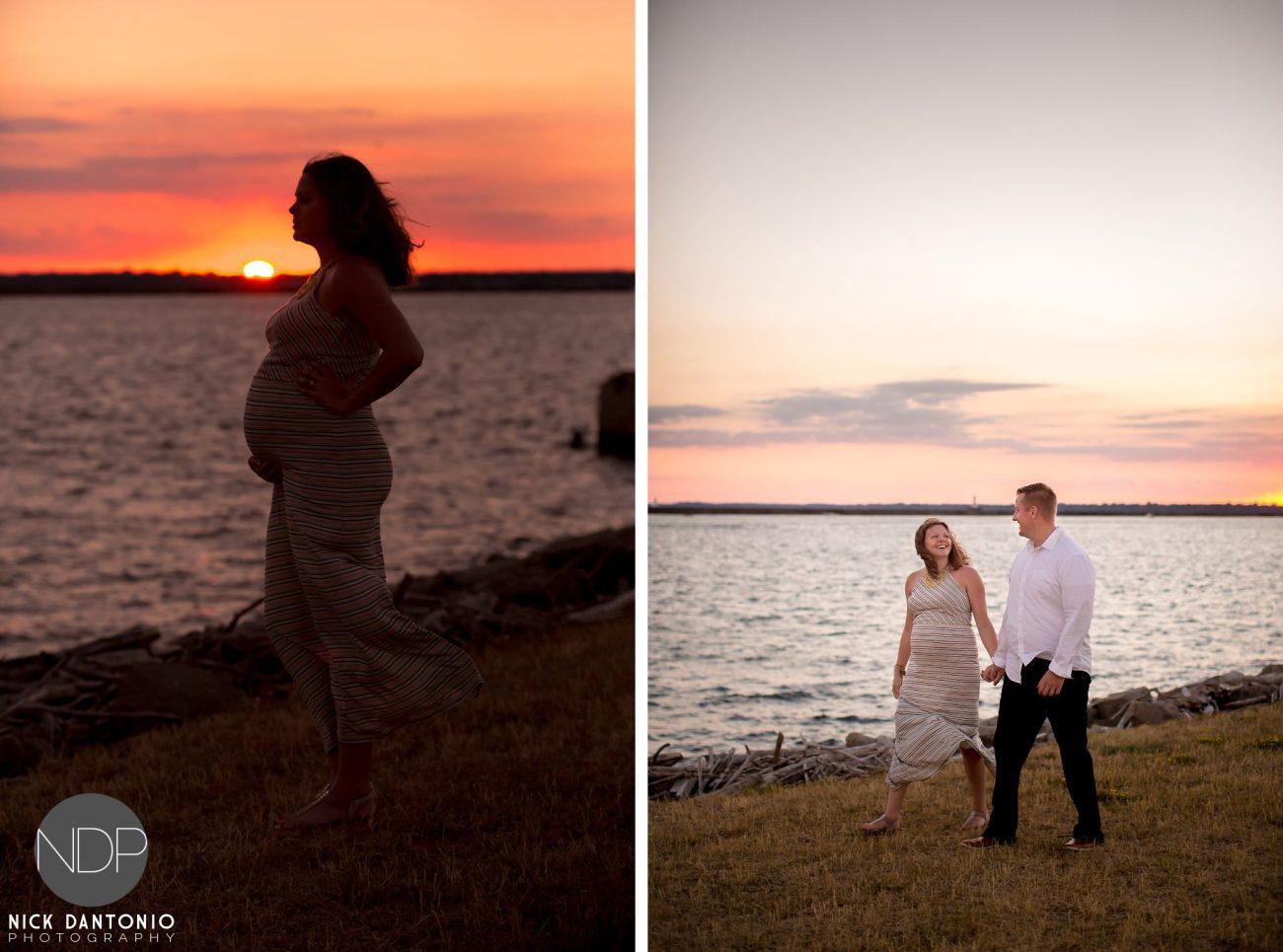 14-Buffalo Waterfront Sunset Maternity Photos_FB