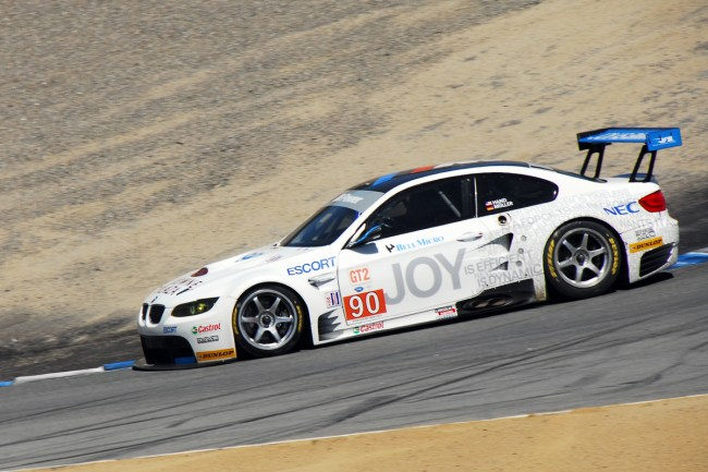 American Le Mans Series at Laguna Seca, Monterey California- Joey Hand Racing Rahal Letterman BMW M3 GT 2nd Place