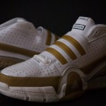 adidas Player Exclusives: Gilbert Arenas TS Bounce Commander White/Gold PE Sample Size 13.5