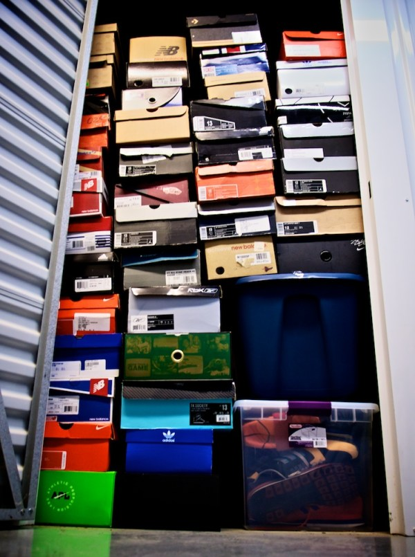 Sneakers, stored.