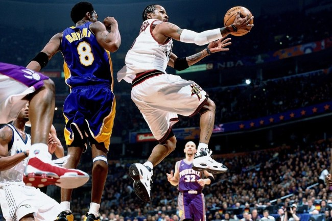 Allen Iverson in the Reebok Question for the 2001 NBA All-Star Game (photo via NBA.com)