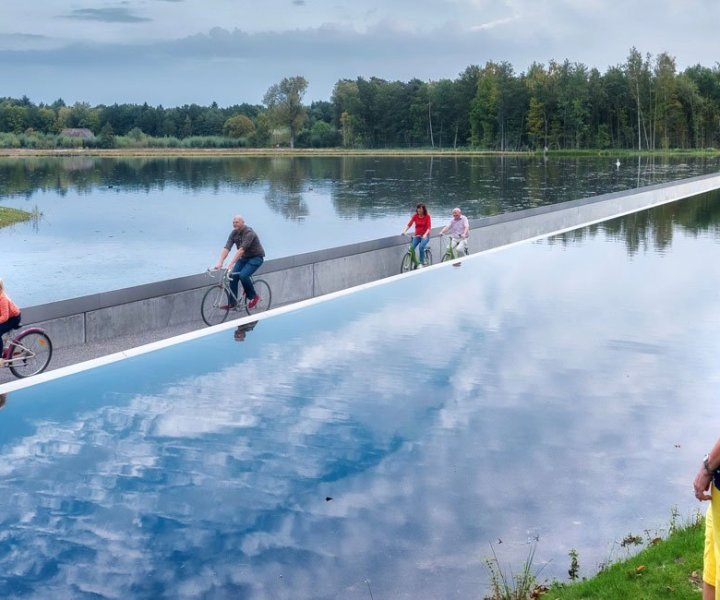 Cycling Through Water in Belgium