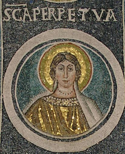 Perpetua (from a mosaic in an ancient basilica)