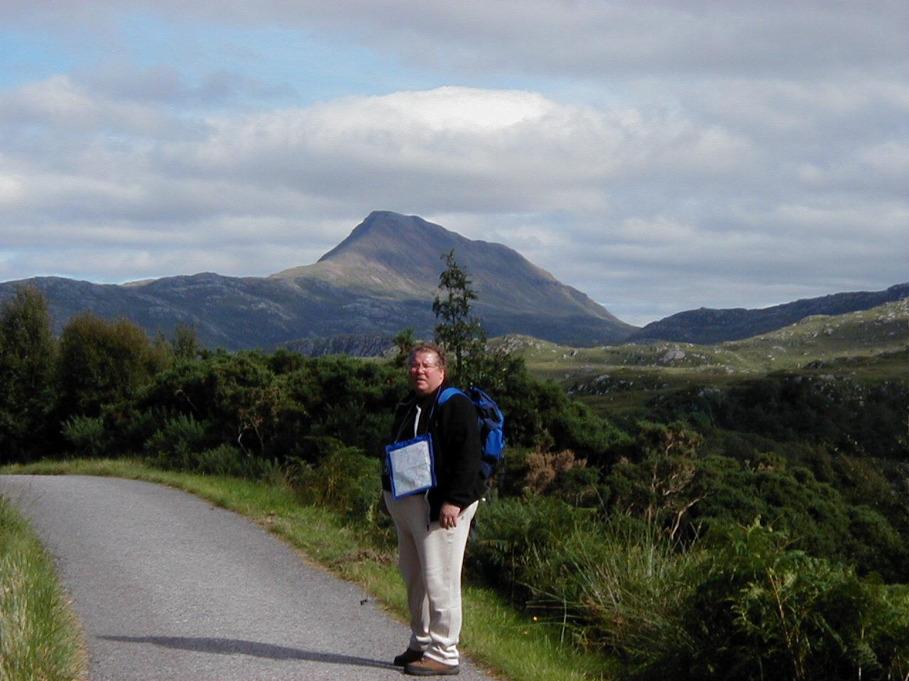 Nick out walking near Suilven