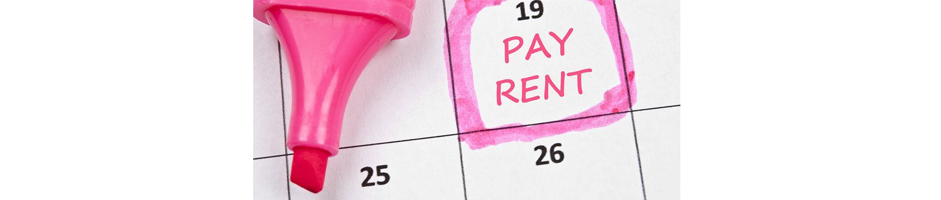 Tenant rent payments