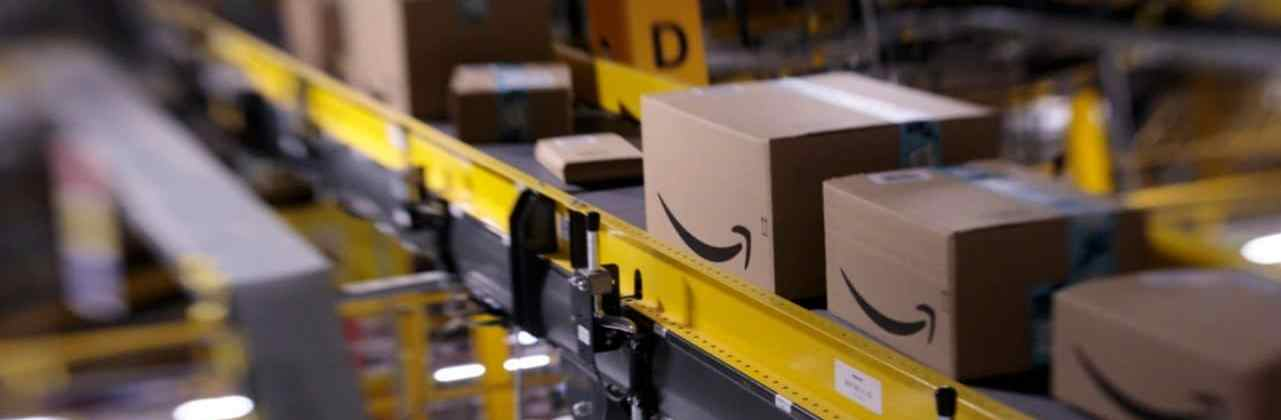 Amazon warehouse conveyor belt