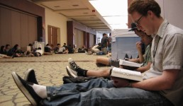 youth pastors sitting aroung with the Word