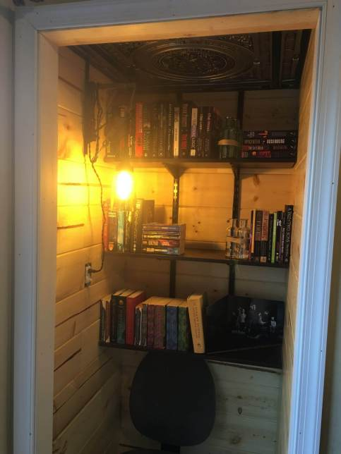 got some books in the reading nook