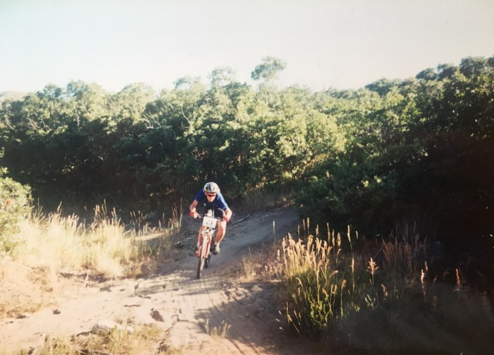 Mountain-bike-race