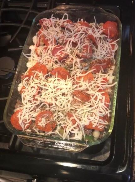 keto crustless pizza casserole