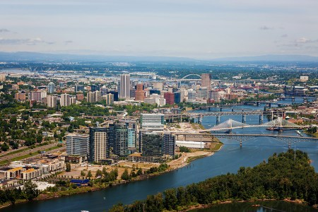 Portland's South Waterfront and downtown