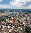 Downtown Portland aerial photo
