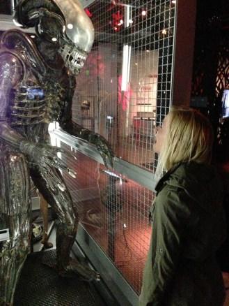 Alien, Katie acting scared
