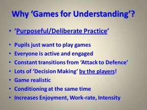 Why use TGfU...Purposeful Deliberate Practice