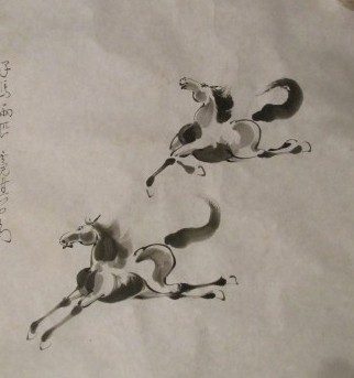 ink on rice paper by Nicki Chen