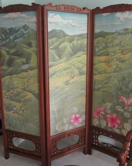 Baguio View--batik on silk by Nicki Chen