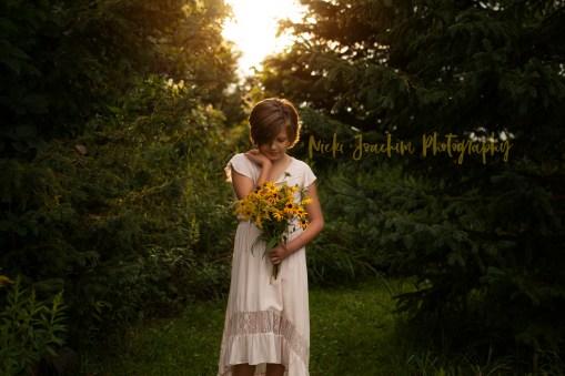 child-princess-woods-flowers