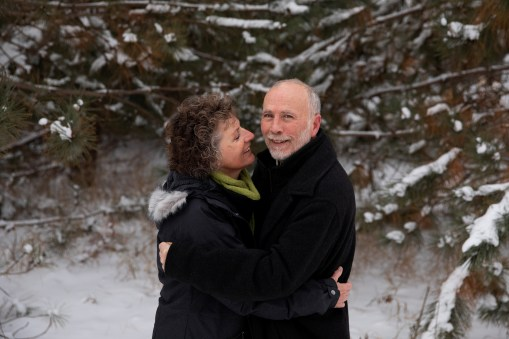 Outdoor Couple's Session in the winter for a Christmas Portrait by MN Photographer Nicki Joachim Photography of Owatonna Minnesota (4)