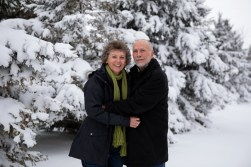 Outdoor Couple's Session in the winter for a Christmas Portrait by MN Photographer Nicki Joachim Photography of Owatonna Minnesota (5)