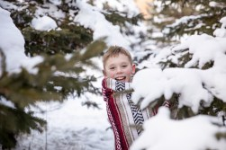 Outdoor winter child portrait in a family photo session by MN Family Photographer Nicki Joachim Photography of Owatonna, Minnesota