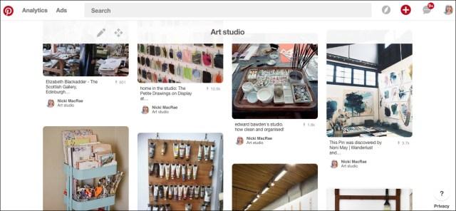 Nicki MacRae Art - Pinterest Ideas for New Art Studio