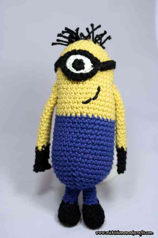 Free Minion Amigurumi Crochet Pattern Nicki's Homemade Crafts Simple Free Minion Crochet Pattern