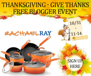 Free Blogger Event: Thanksgiving – Give Thanks