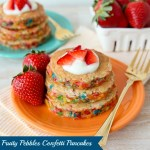 Fruity Pebbles Confetti Pancakes