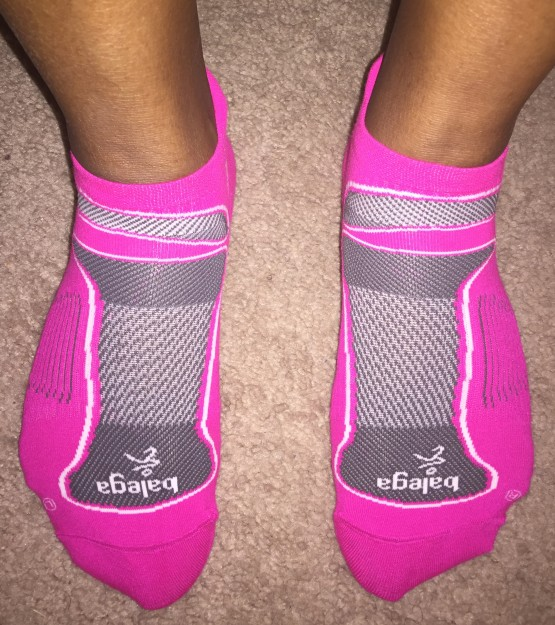 Pink Balega Running Socks