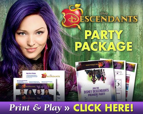 Free Downloadable Descendants Party Kit