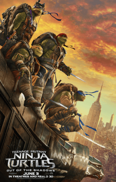New TMNT Out of the Shadows Trailer