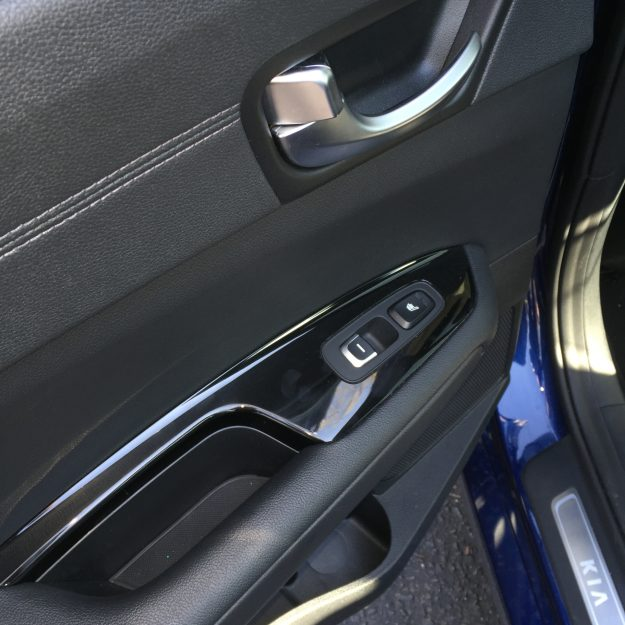 The details on this car was incredible, like these door handles that match the exterior silver trim.