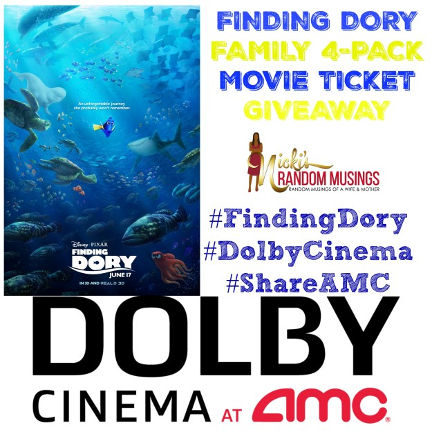 Finding Dory Movie Ticket Giveaway