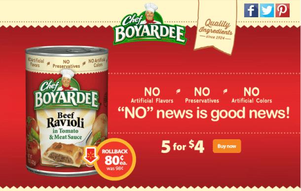 Chef Boyardee on Rollback at Walmart #ad #SaveOnChef
