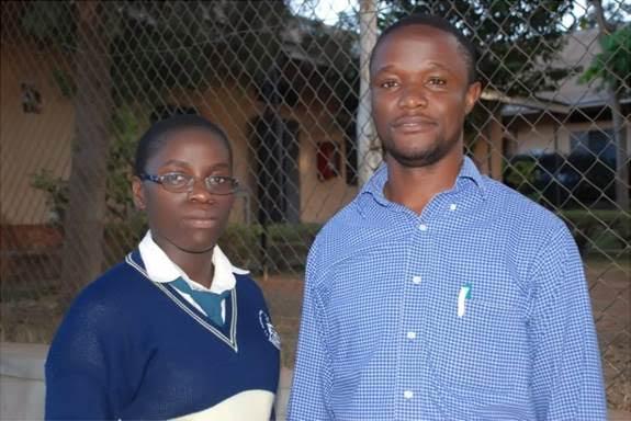 Robert Katende and  Phiona Mutesi. Photo Credit: Walt Disney Studios