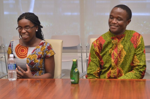 Phiona Mutesi and Robert Katende: Photo Credit Carol Jones of All Mommy Wants for #QueenOfKatweEvent