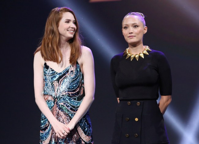 Karen Gillan and Pom Klementieff Talks Guardians of the Galaxy #D23Expo #GotGVol2BluRay