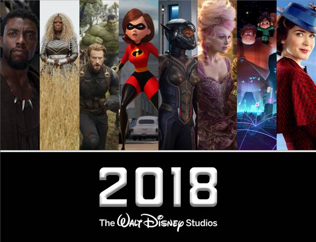 2018 Walt Disney Studios Movie Slate