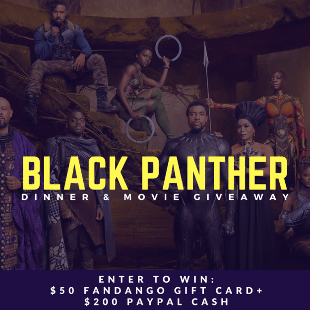 Black Panther Dinner & Movie PayPal Cash Flash Giveaway