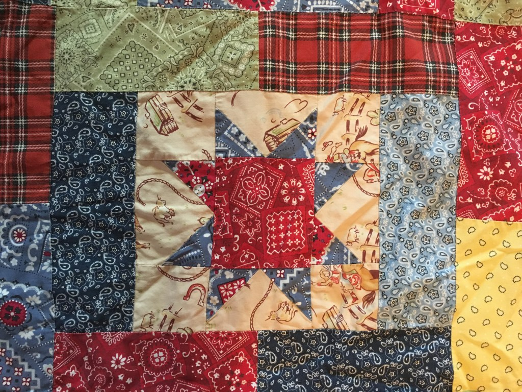 western Lucky Stars lap quilt