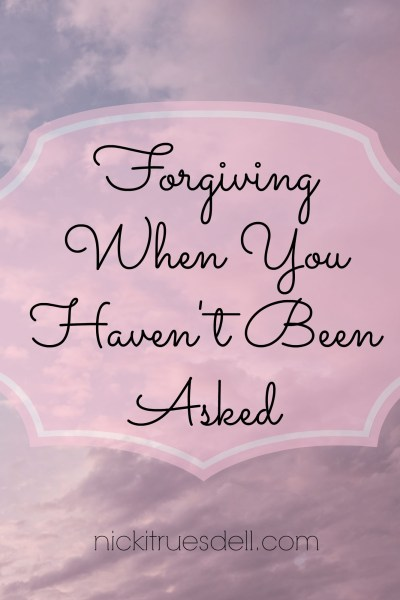 forgiving when you haven't been asked