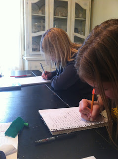 girls homeschooling