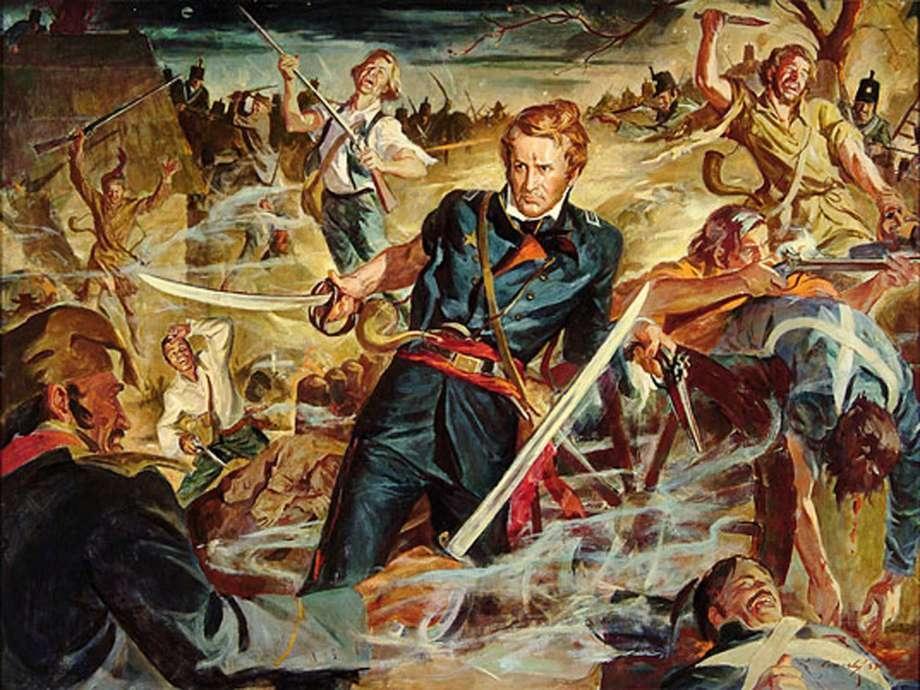 William Travis at the Alamo