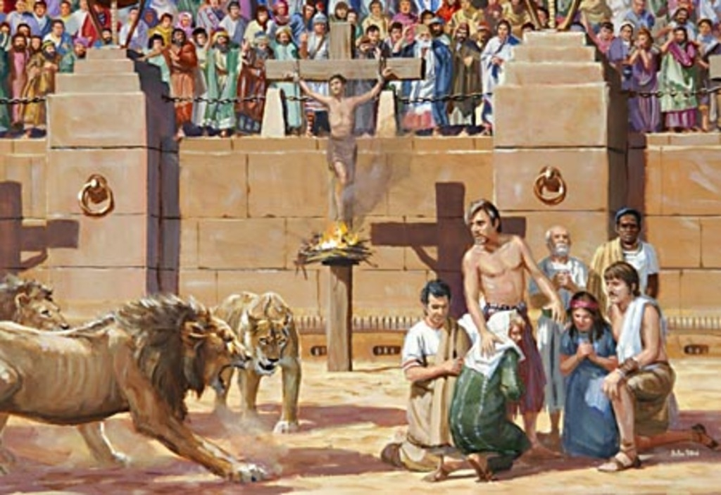 Christians being persecuted in Rome under Nero