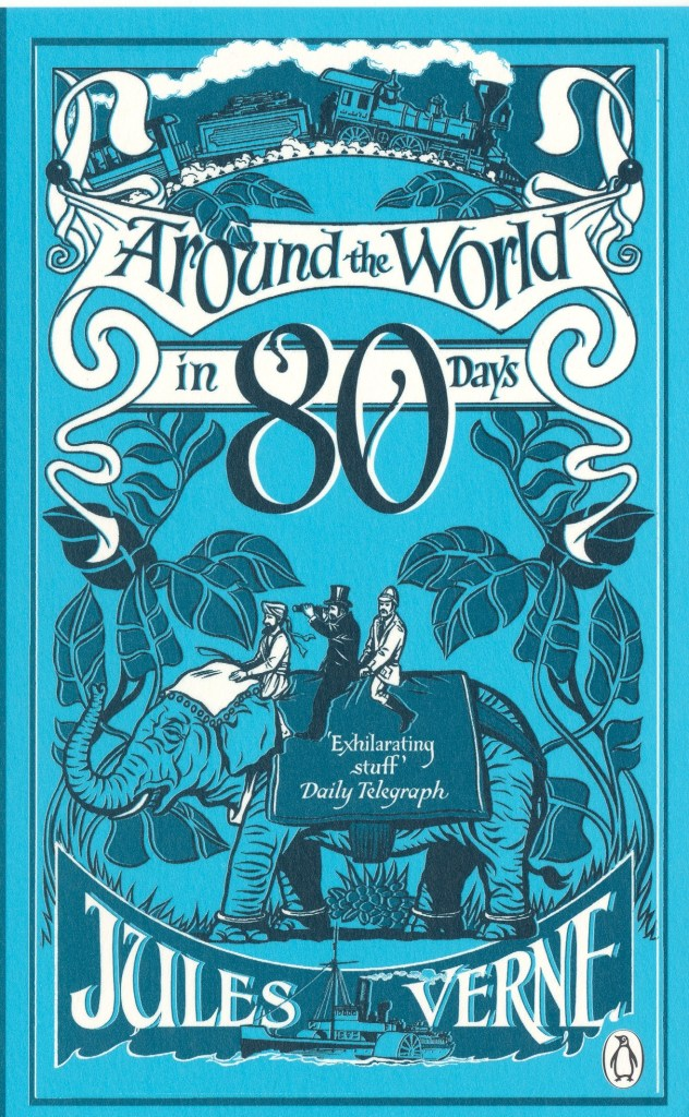 I can't think of a more fun book for this than Around the World in 80 Days! There are so many rabbit trails to follow with this book, including Victorian times, transportation, inventions, and of course, geography.